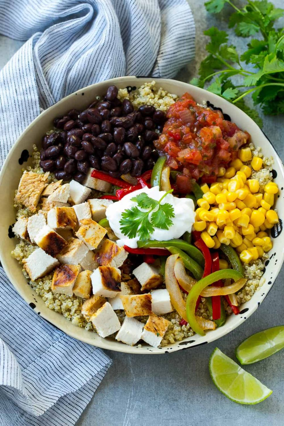 Mexican Chicken Quinoa Bowl - Recipe Chicken Quinoa Salad