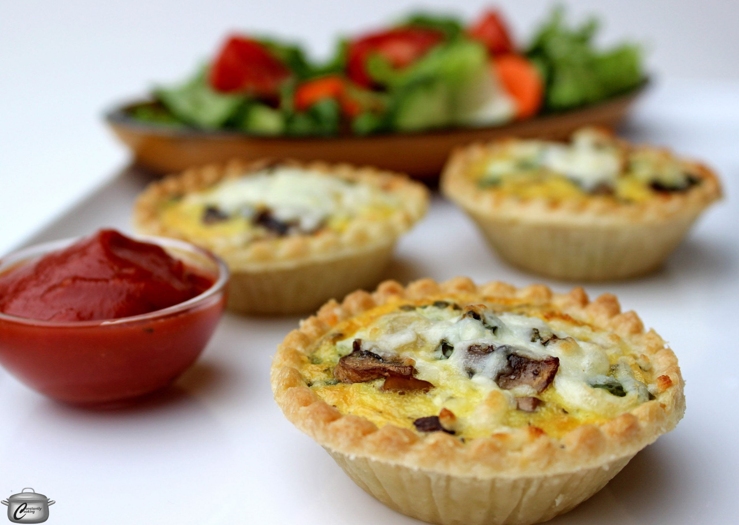 Mini pizza quiches | Constantly Cooking - Pizza Quiche Recipes
