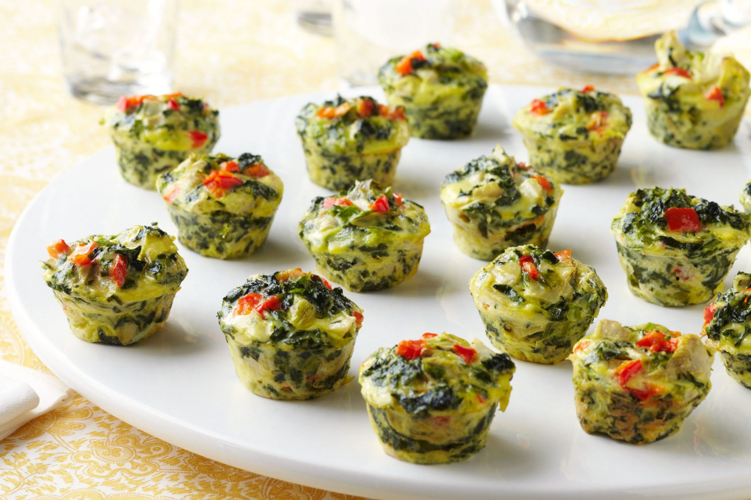 Mini Spinach-Artichoke Frittatas - Xyngular Recipes Vegetable Frittata