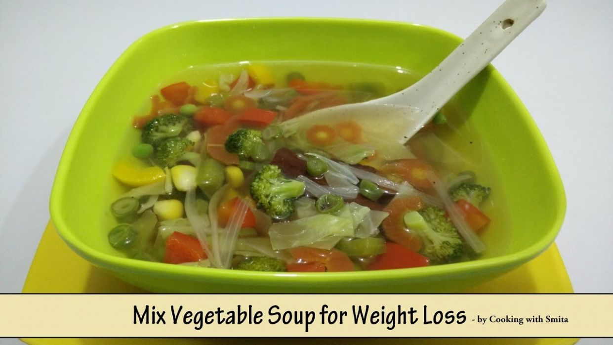 Mix Vegetable Soup for Weight Loss - Recipe in Hindi by Cooking with Smita  | Diet Food