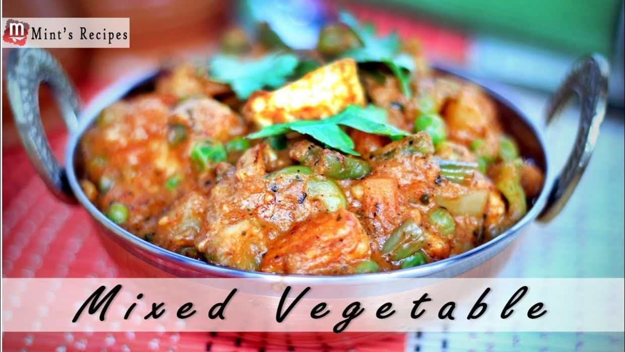 Mix Vegetables Recipe in Hindi - Indian Vegetarian Recipes - Vegetable Recipes Hindi