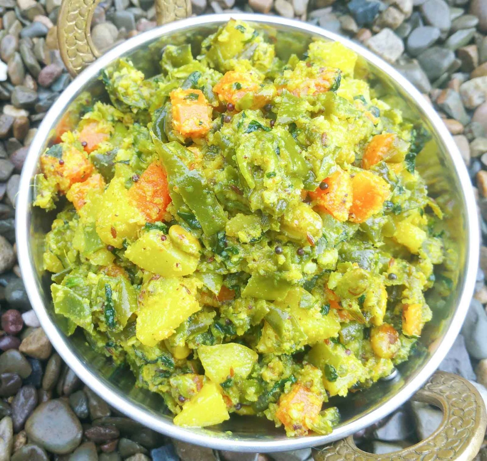 Mixed Vegetable Poriyal - Vegetable Recipes Kerala Style