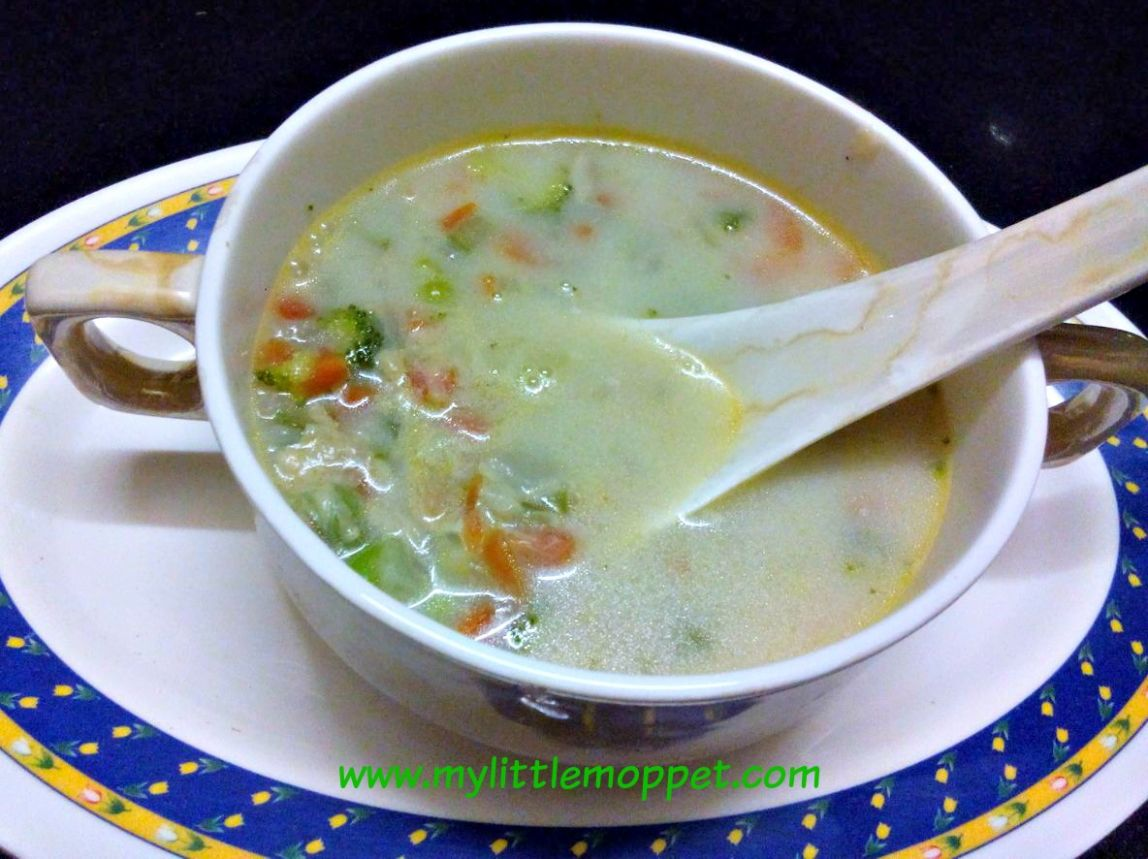Mixed Vegetable Soup for Babies and Toddlers - My Little Moppet - Soup Recipes For Babies