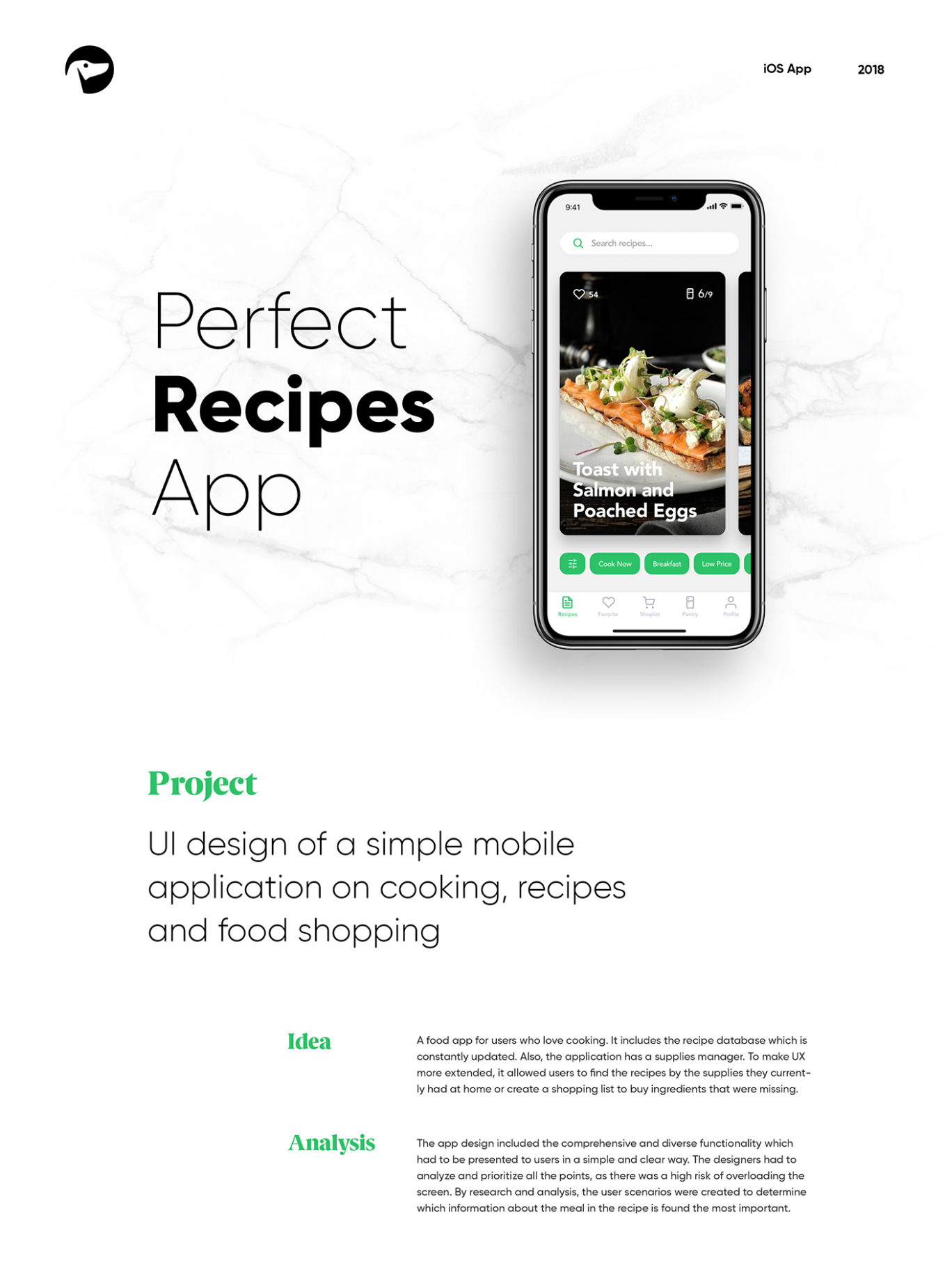 Mobile UI Design: Perfect Recipes App on Behance - Breakfast Recipes App
