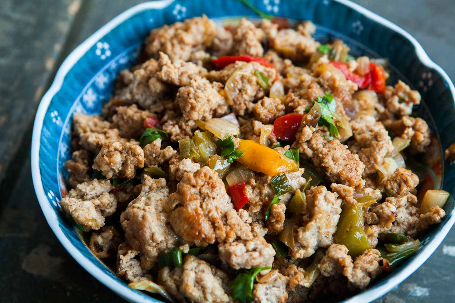 Mom's Ground Turkey and Peppers - Simple Recipes Using Ground Turkey