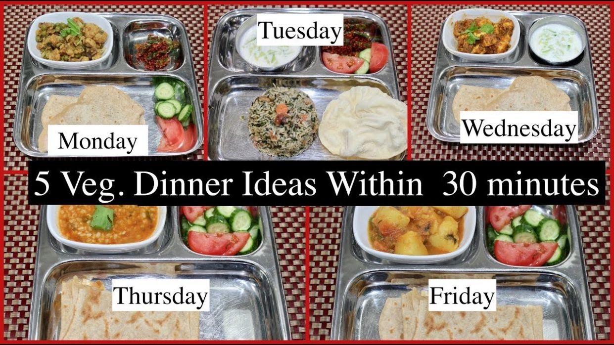 Monday -Friday 8 Minutes Indian Dinner Recipes | Quick Dinner Ideas |  Simple Living Wise Thinking