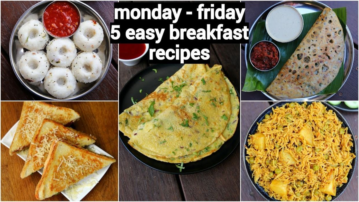 monday to friday 12 minute breakfast recipes | 12 झटपट नाश्ते मिनटों में | 12  easy breakfast recipes - Breakfast Recipes Quick And Easy Indian