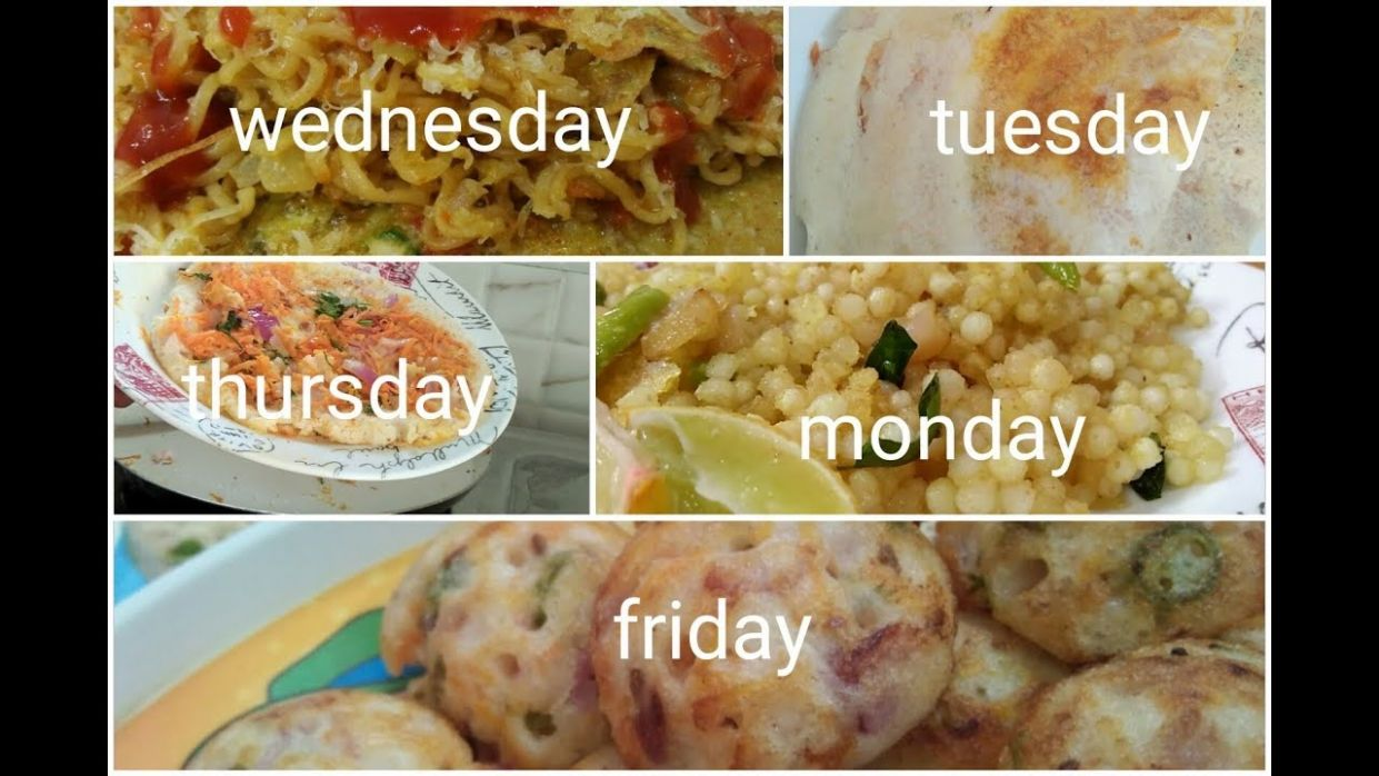 Monday to Friday 12 minute breakfast recipes in Telugu/Easy to ..