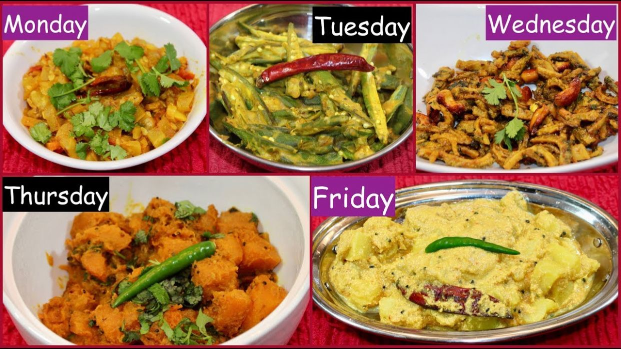 Monday To Friday Summer Subzi Recipe For Dinner /Lunch | Indian ...