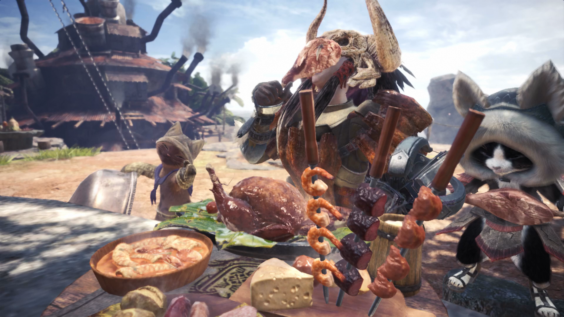 Monster Hunter World Cooking - How to Cook and Eat Meals in the ..