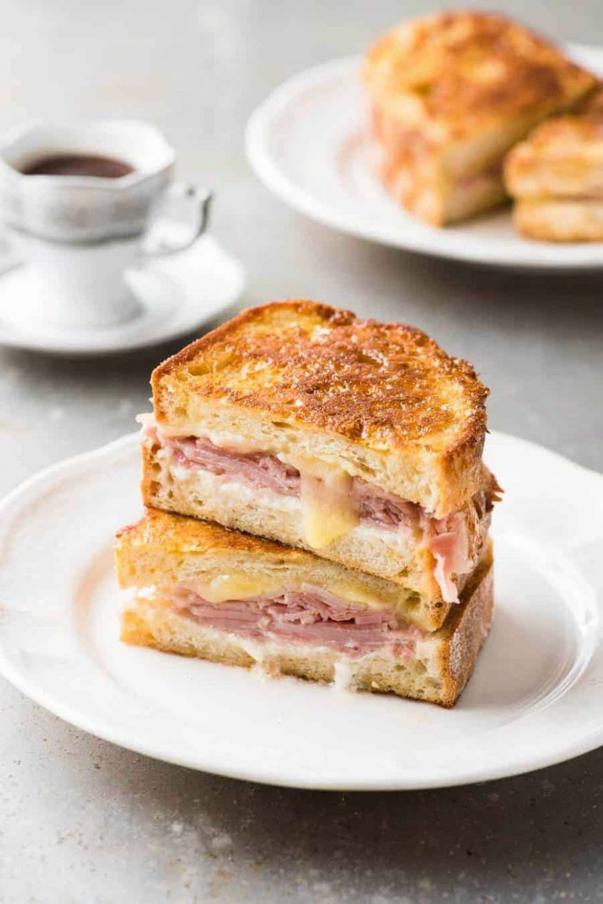 Monte Cristo Sandwich (Ham Cheese French Toast) - Sandwich Recipes Ham And Cheese