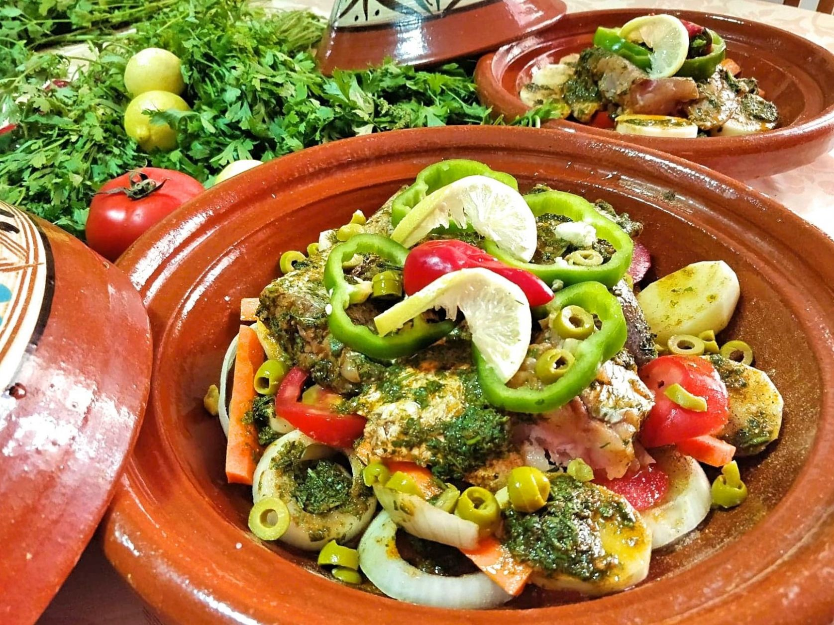 Moroccan Fish Tagine Recipe with Chermoula and Vegetables