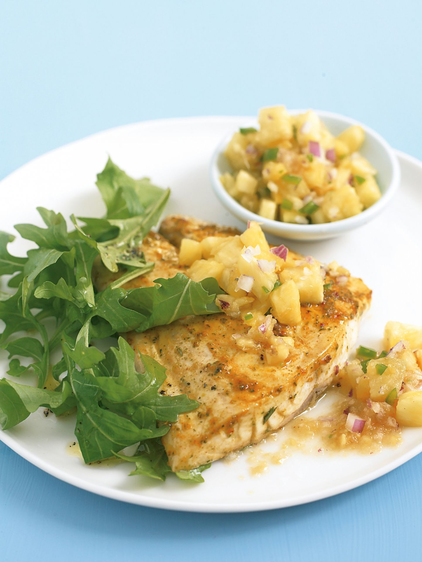 Moroccan Grilled Fish with Pineapple Salsa - Recipe Fish With Pineapple