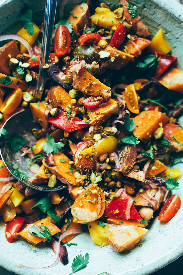 MOROCCAN-ISH SWEET POTATO SUNSHINE SALAD » The First Mess // Plant ..