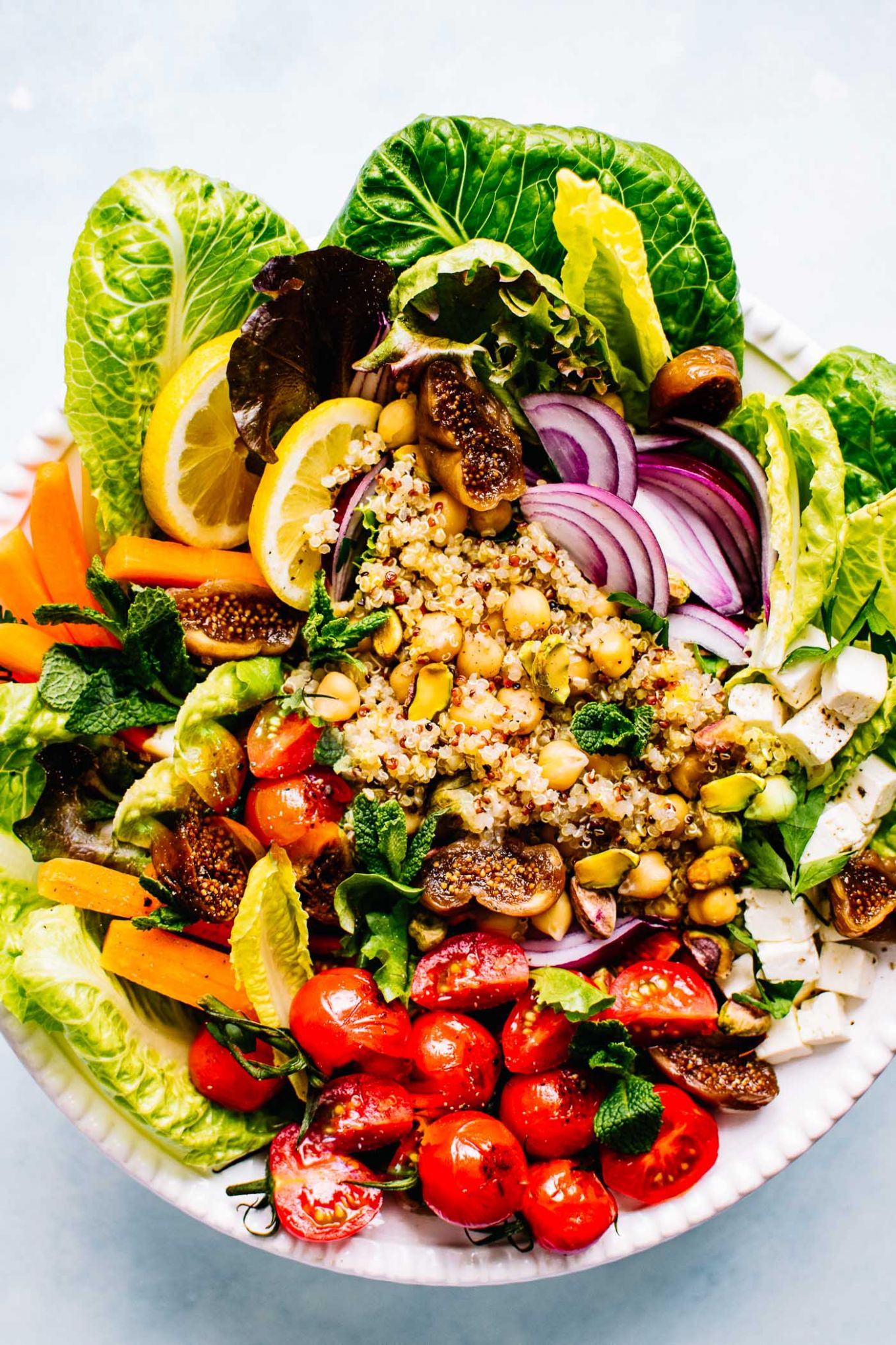 Moroccan Salad with Quinoa and Chickpeas - Salad Recipes Gluten Free