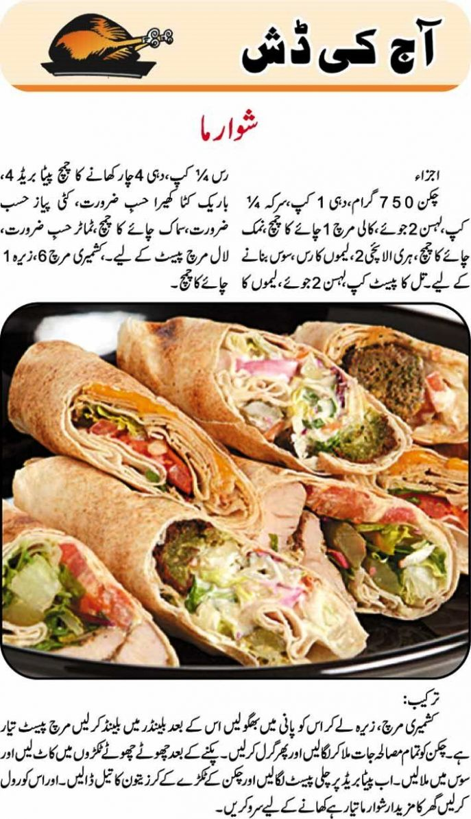 Most Delicious Chicken Shawarma in Easy Urdu Language | Shawarma ...