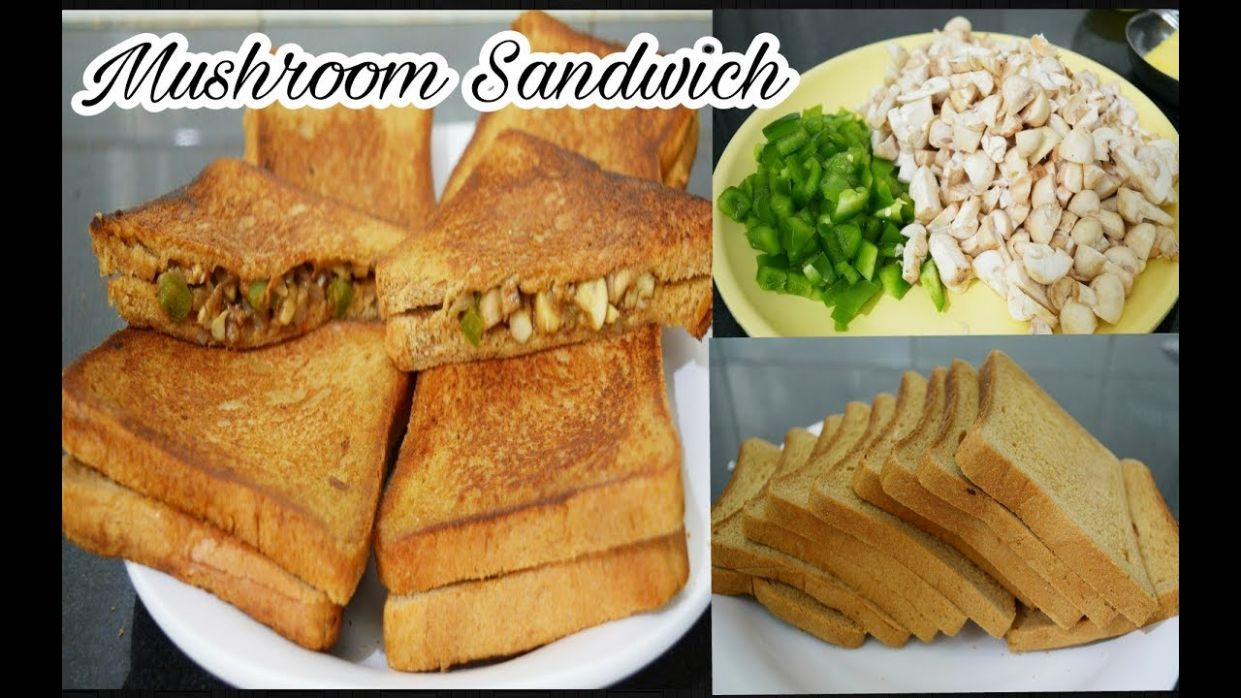 Mushroom Capsicum Sandwich Recipe in Tamil| How to Make Mushroom Sandwich