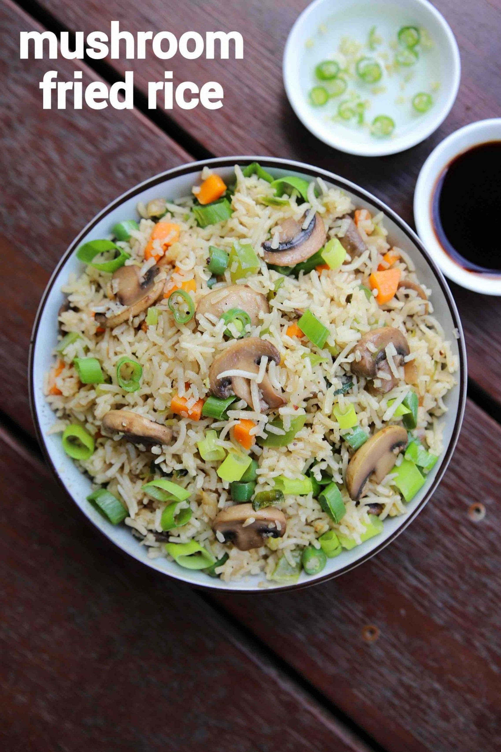 mushroom rice recipe | mushroom pulav | mushroom fried rice - Recipes Rice Mushrooms