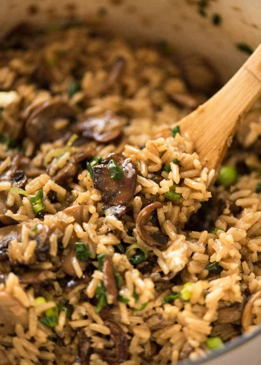 Mushroom Rice Recipe - Recipes Rice Mushrooms