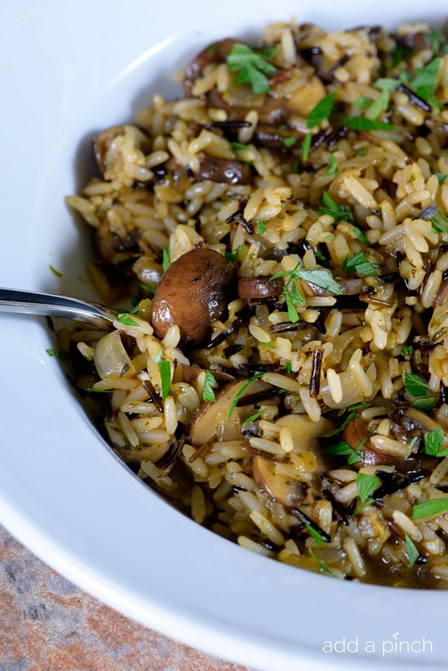 Mushrooms with Long Grain and Wild Rice | Wild rice recipes, Long ...