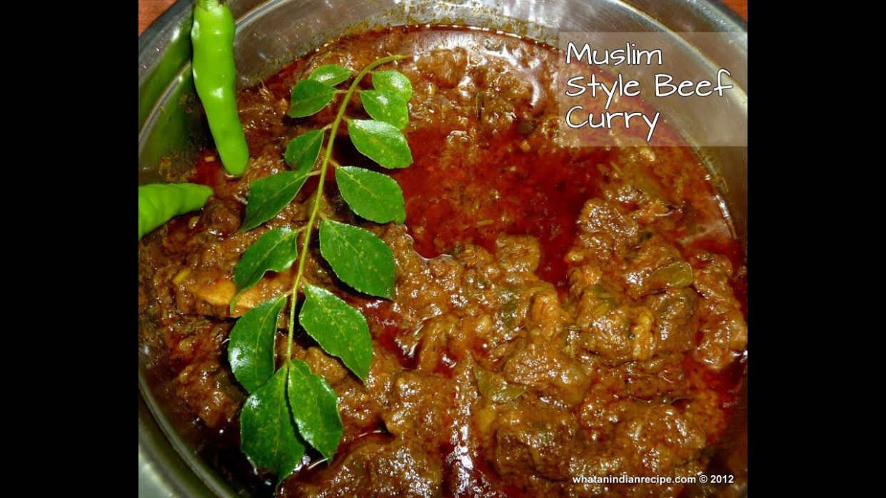 Muslim style beef curry recipe