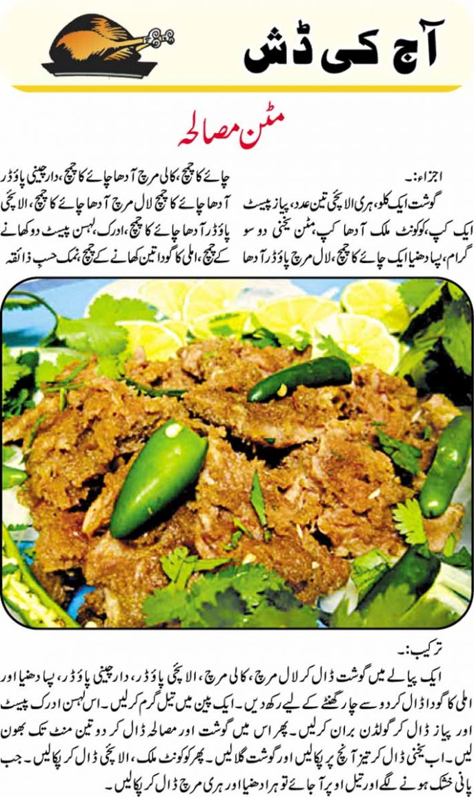 Mutton Masala Urdu Recipes - Urdu Recipes Masala