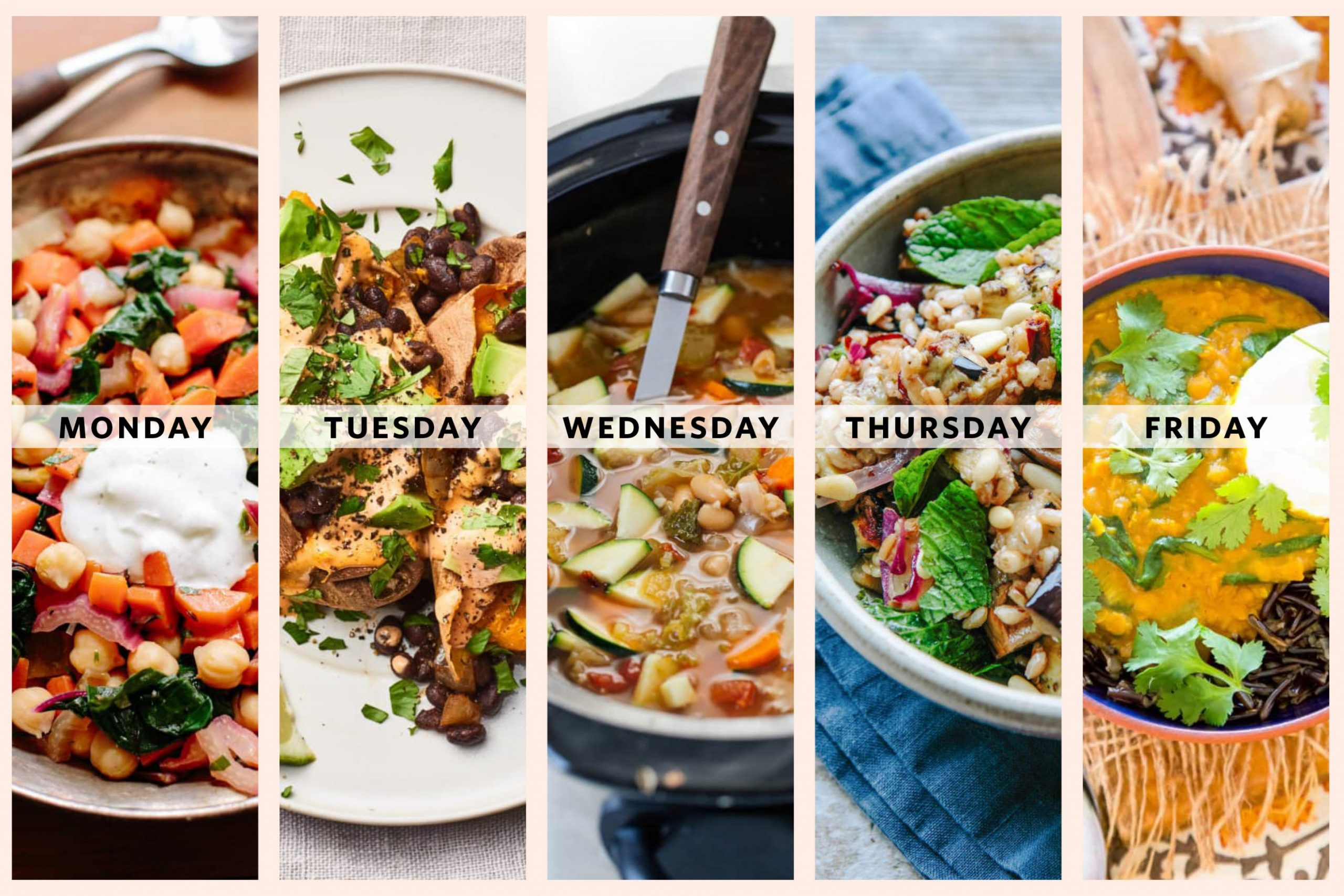 Next Week's Meal Plan: A Week of Vegetarian Mediterranean Diet ...