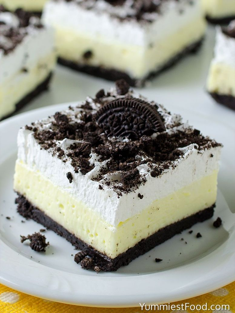 No Bake Oreo Vanilla Pudding Cake - Dessert Recipes Quick N Easy