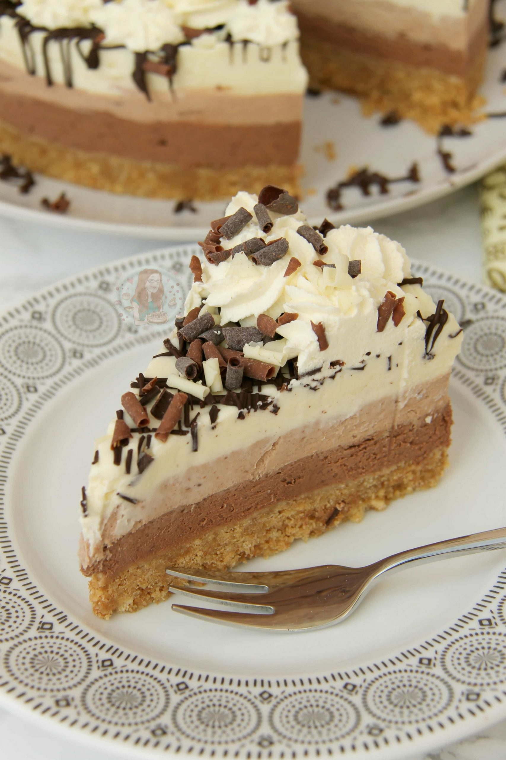 No-Bake Triple Chocolate Cheesecake!