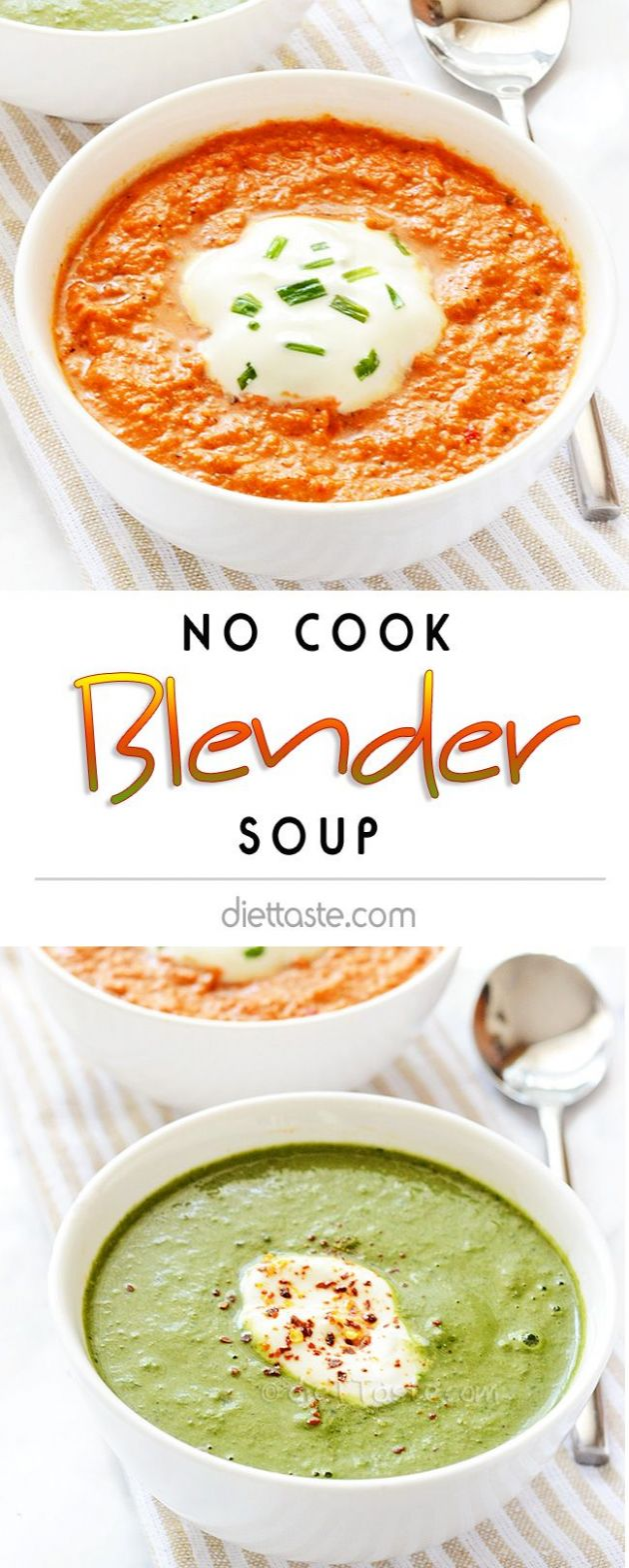 No Cook Blender Soup - Soup Recipes No Blender