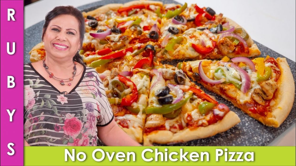 No Oven Chicken Pizza Recipe in Urdu Hindi - RKK - Pizza Recipes In Urdu Without Oven