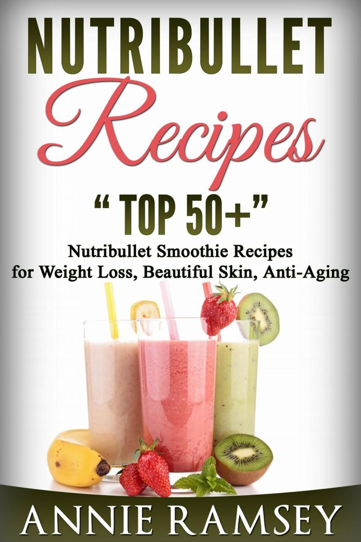 Nutribullet Recipes: Top 12 Nutribullet Smoothie Recipes for Weight Loss,  Beautiful Skin, Anti-aging eBook by Annie Ramsey - Rakuten Kobo
