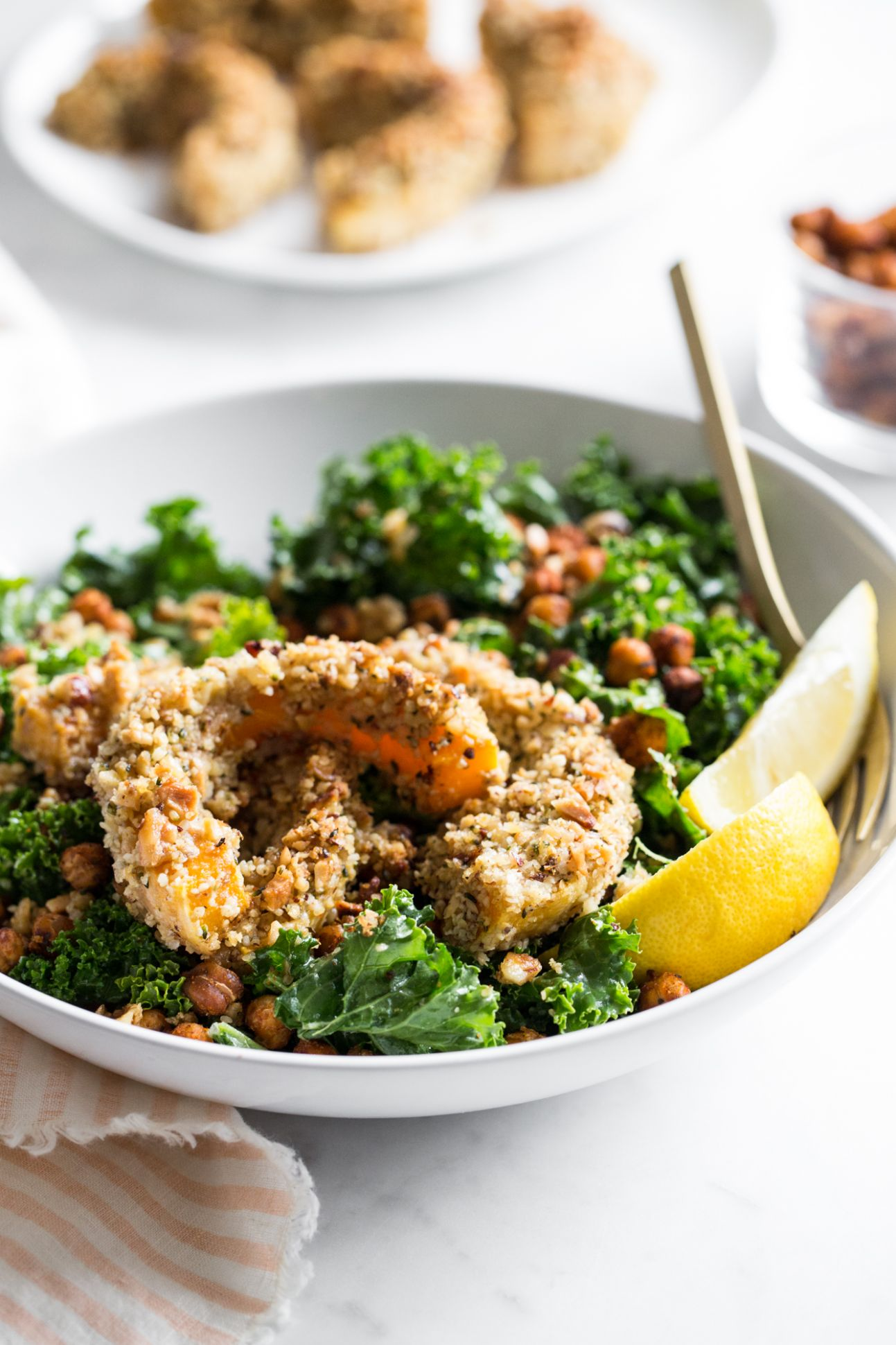 Nutty Crusted Butternut Squash Bowl - Summer Recipes Oh She Glows