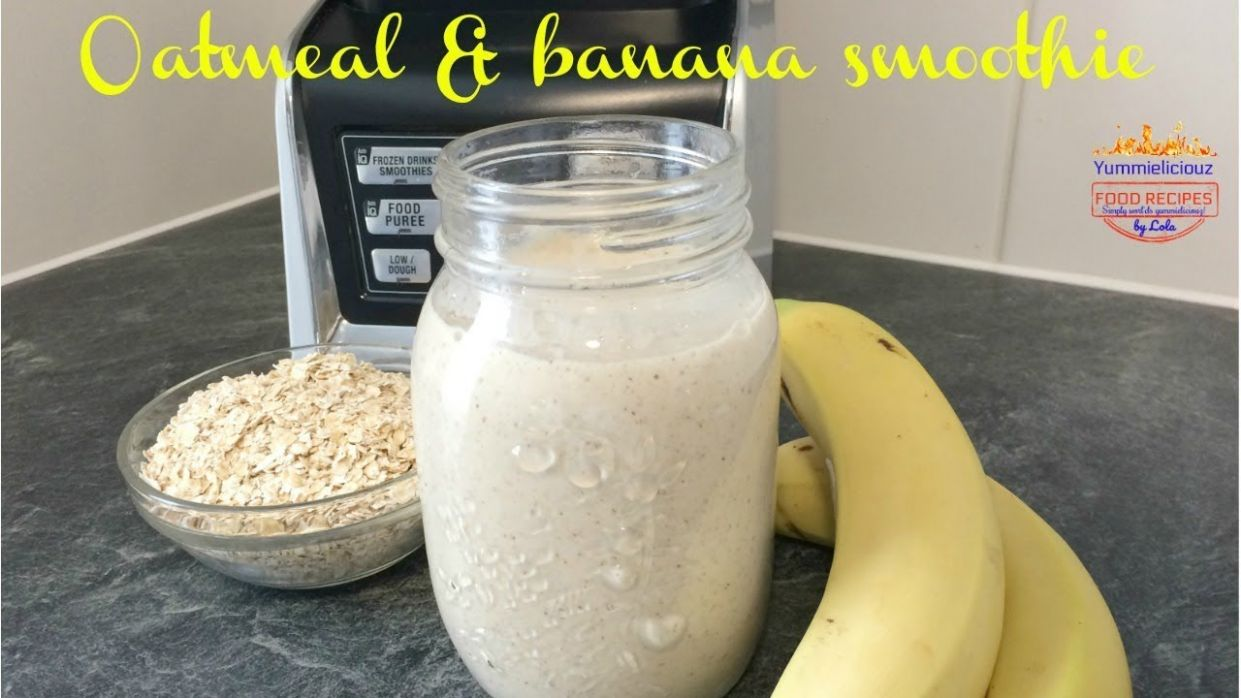 Oatmeal & Banana Smoothie | Easy Vegan Breakfast Recipe | Weight Loss  Smoothie