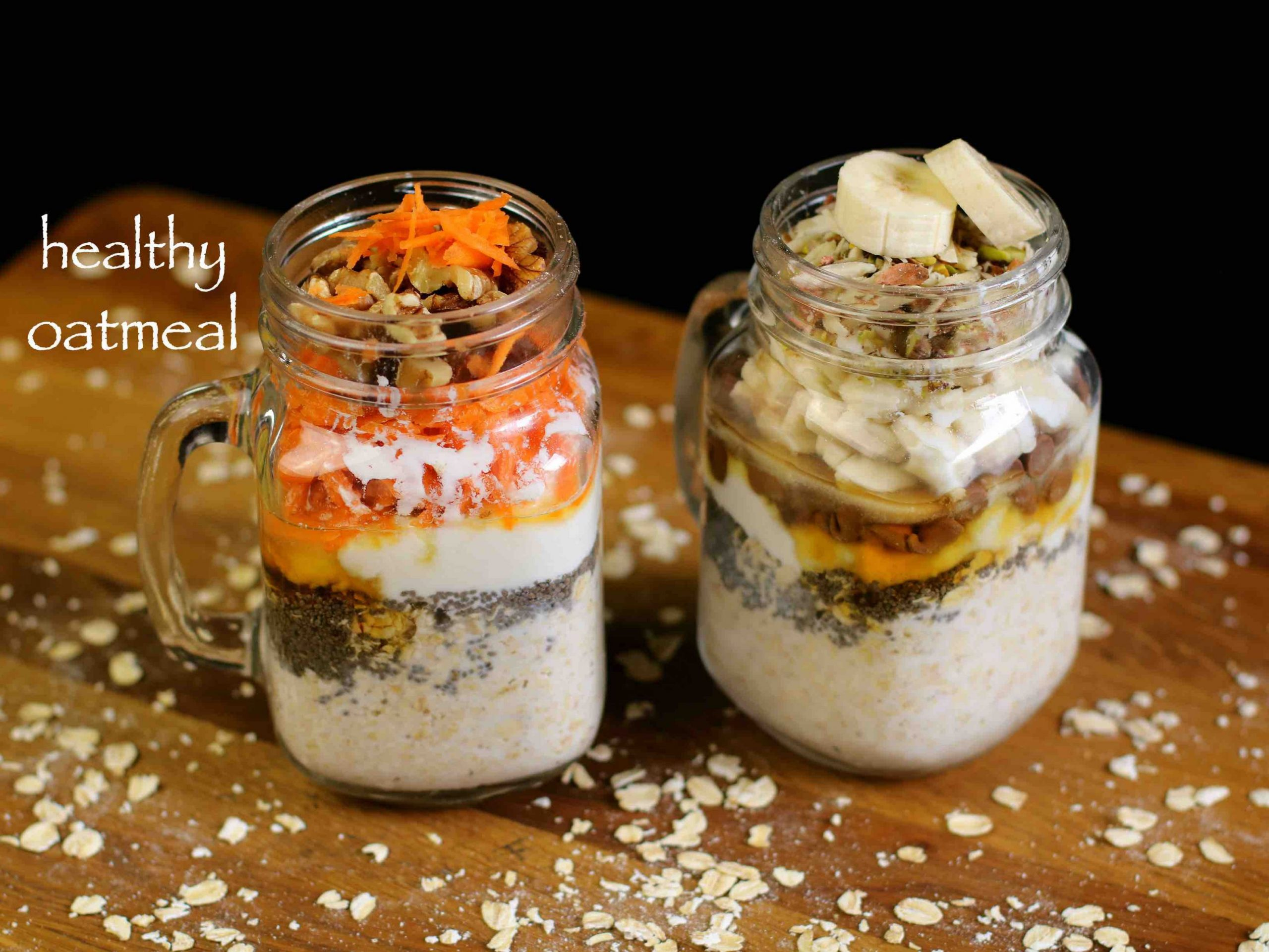 oatmeal recipe | overnight oats recipe | oats recipes for weight loss