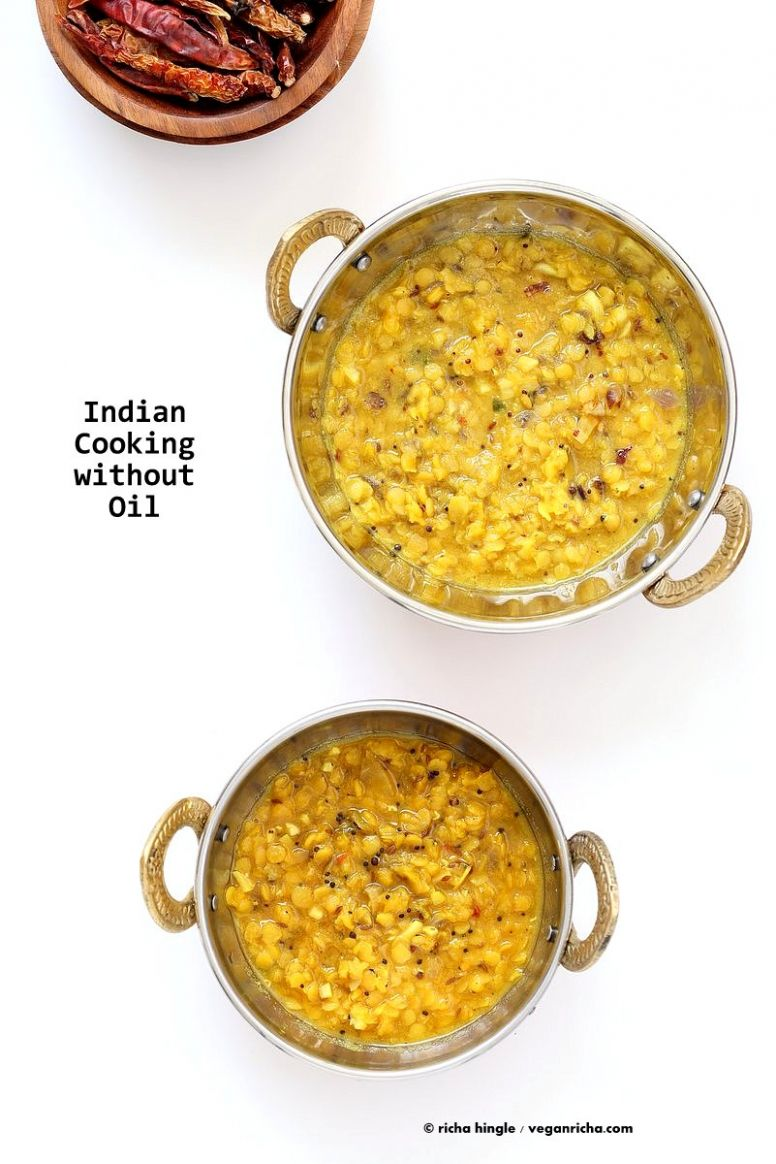 Oil free Dal Tadka - Restaurant style Lentil soup - Vegetable Recipes Without Oil