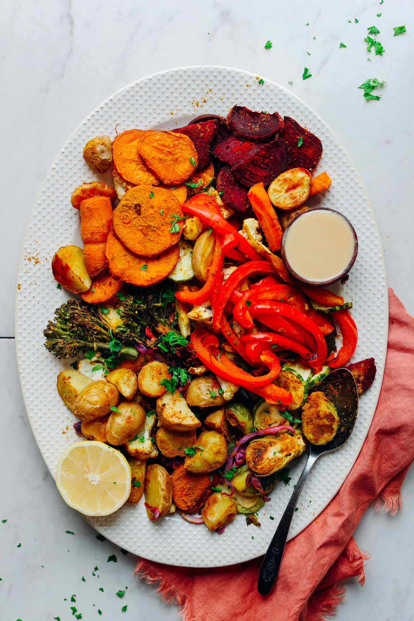 Oil-Free Roasted Vegetables - Vegetable Recipes Healthy Easy