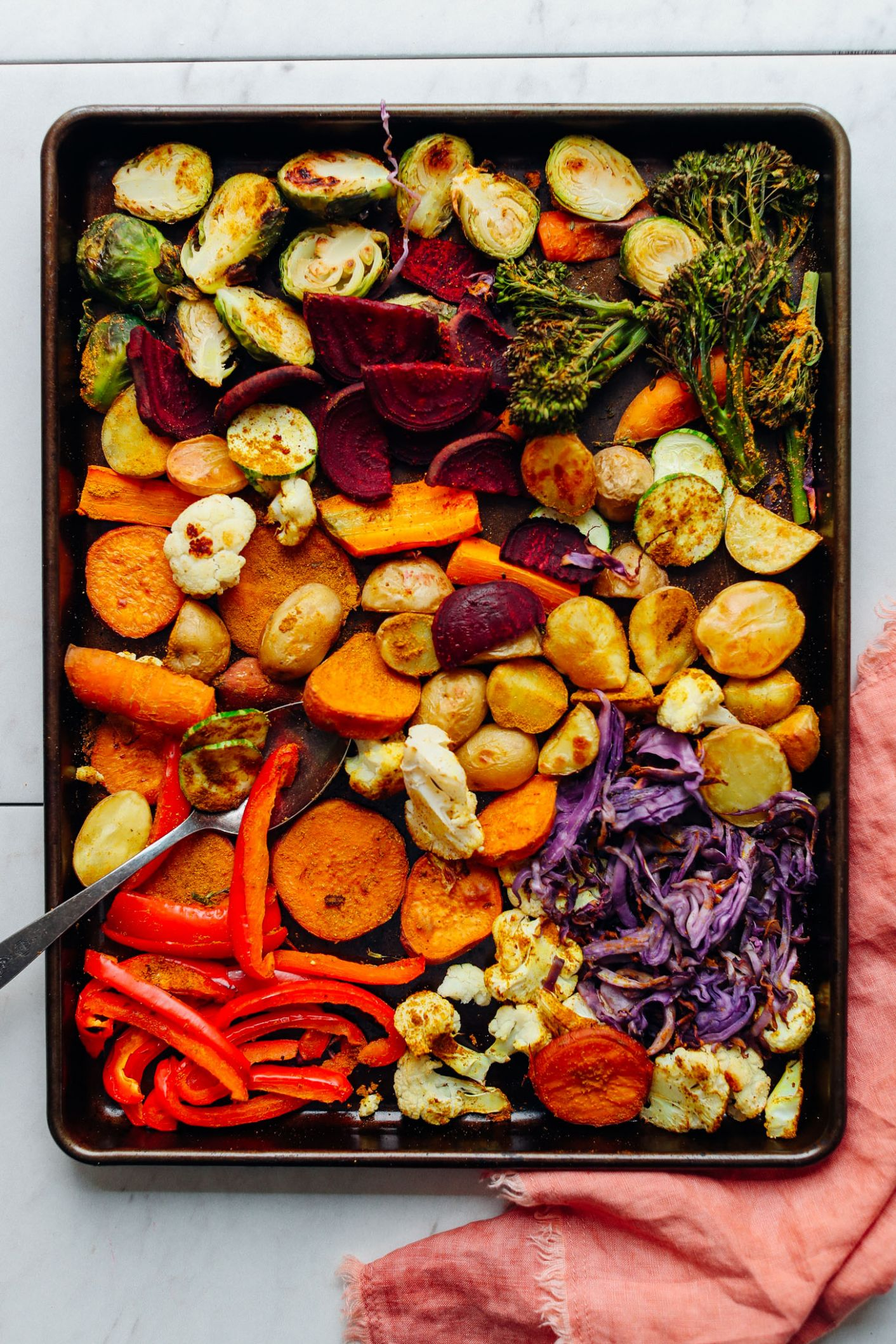 Oil-Free Roasted Vegetables - Vegetable Recipes No Fat