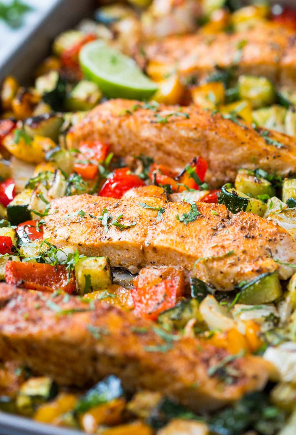 One Pan Baked Salmon And Vegetables - Healthy Recipes Salmon