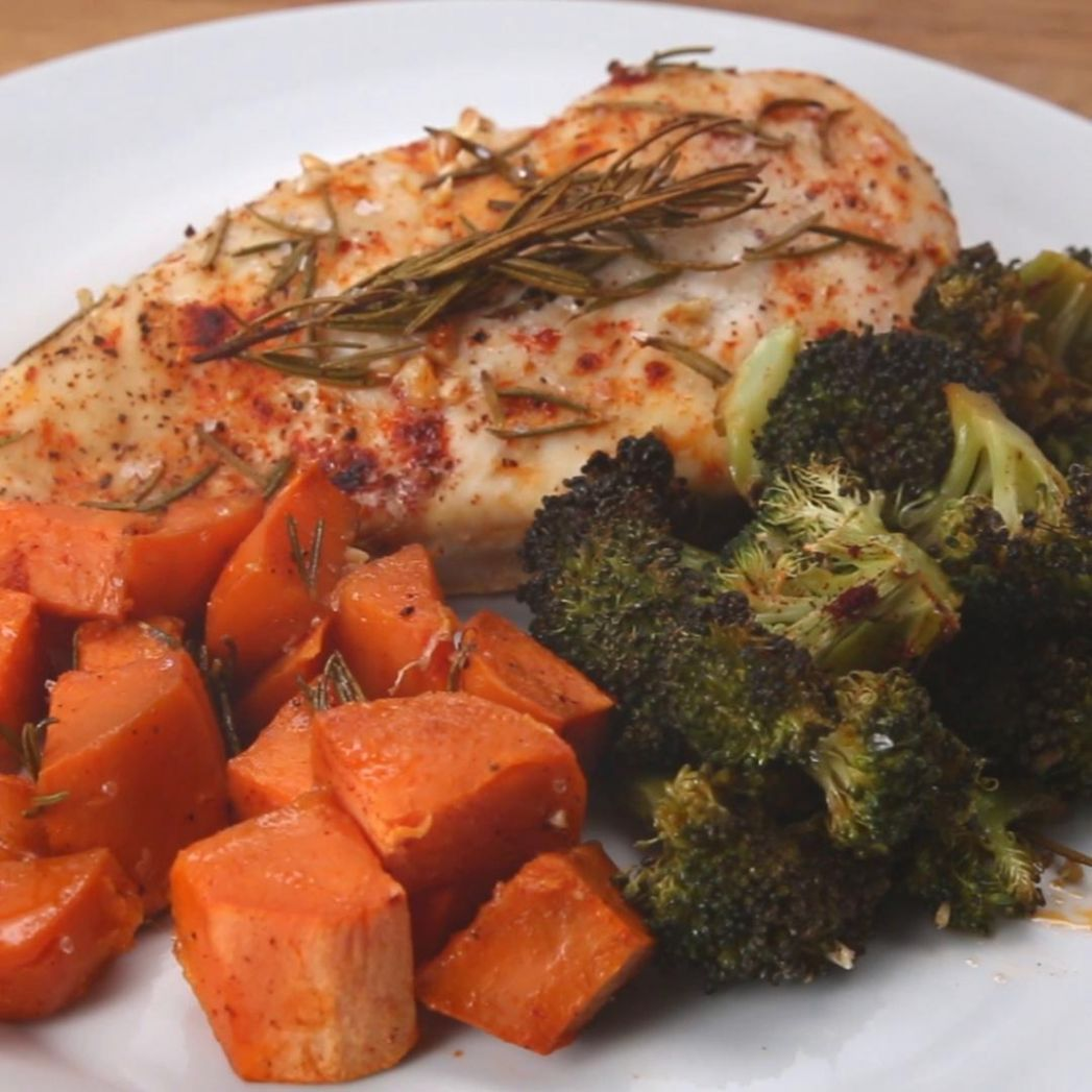 One Pan Chicken And Veggies Recipe by Tasty - Recipe Chicken Breast Vegetables