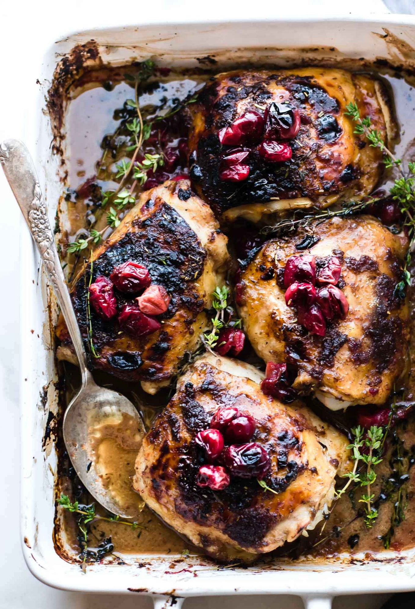 One Pan Cranberry Balsamic Roasted Chicken Paleo - Xmas Chicken Breast Recipes