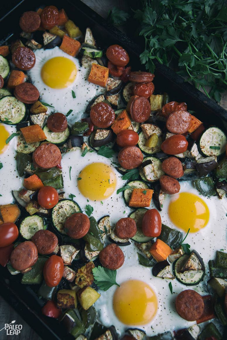One-Pan Egg and Vegetable Breakfast Recipe