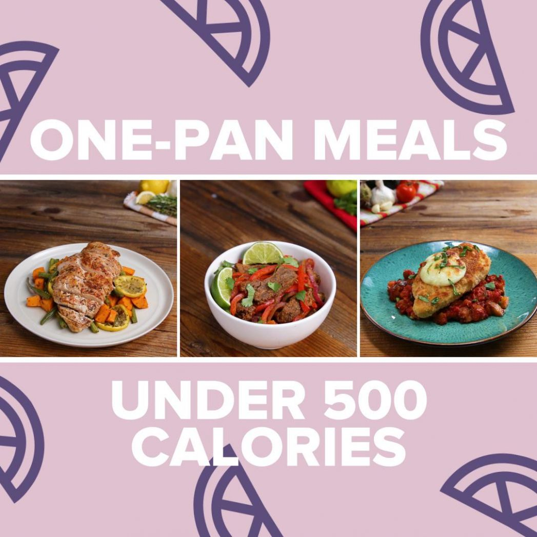One-Pan Meals Under 10 Calories | Recipes - Dinner Recipes Under 500 Calories