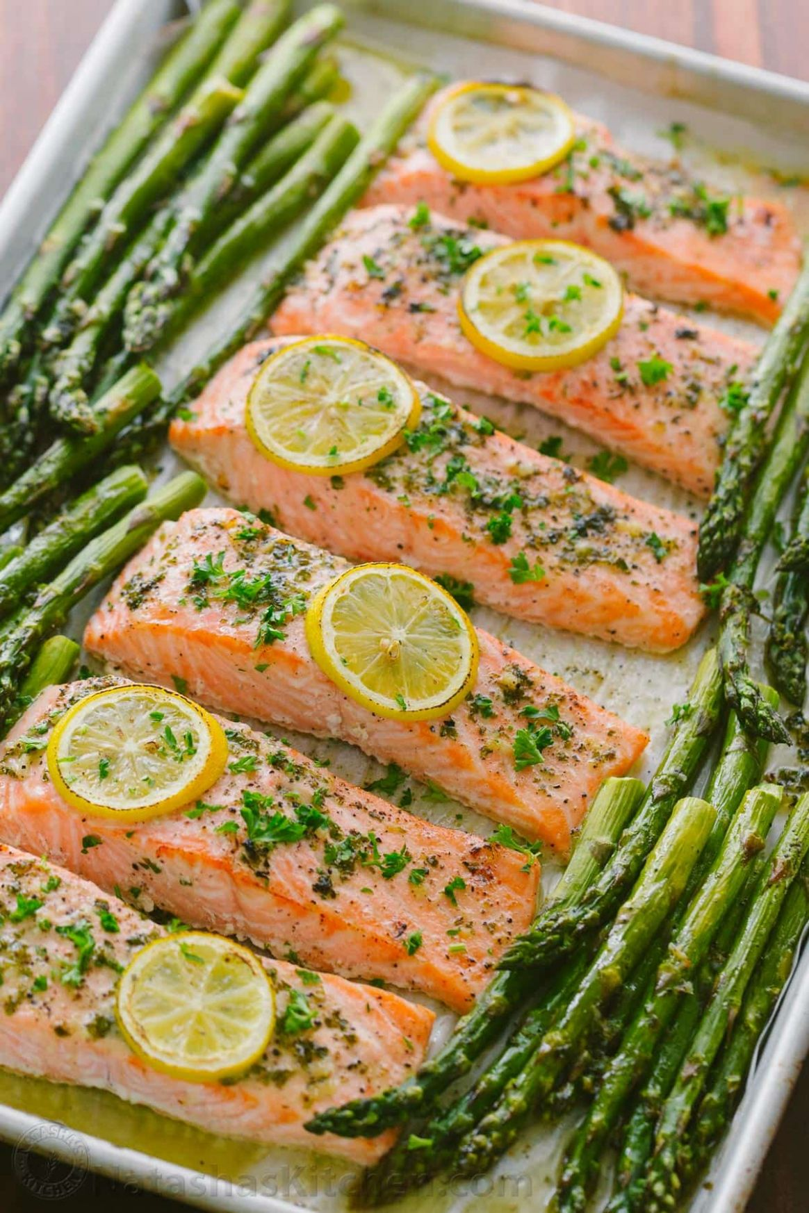 One-Pan Salmon Asparagus Recipe (VIDEO) - Recipes Fish Salmon