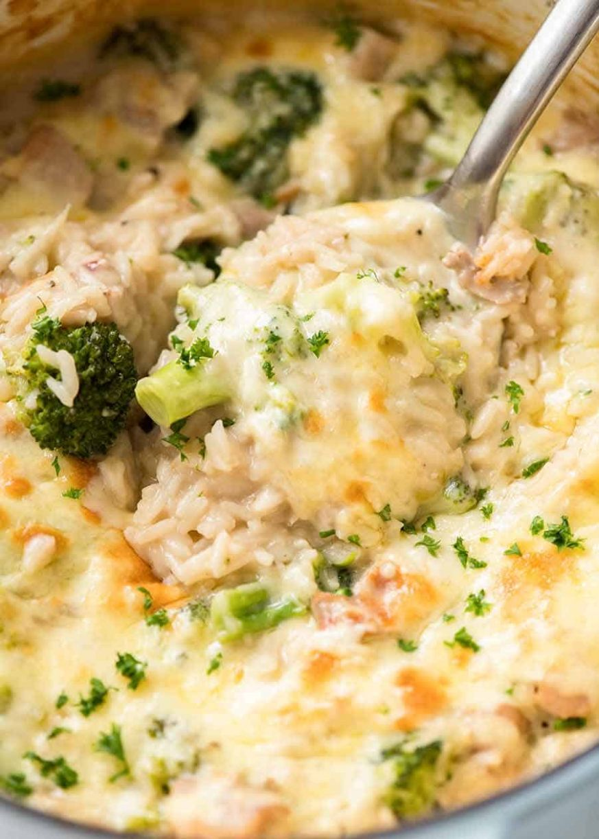 One Pot Broccoli, Chicken and Rice Casserole - Recipes Chicken Rice Broccoli