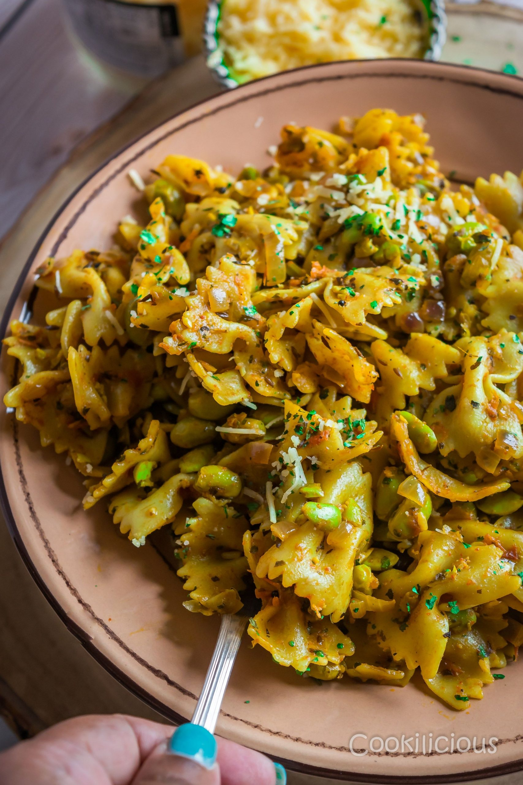 One Pot Indian Curry Pasta