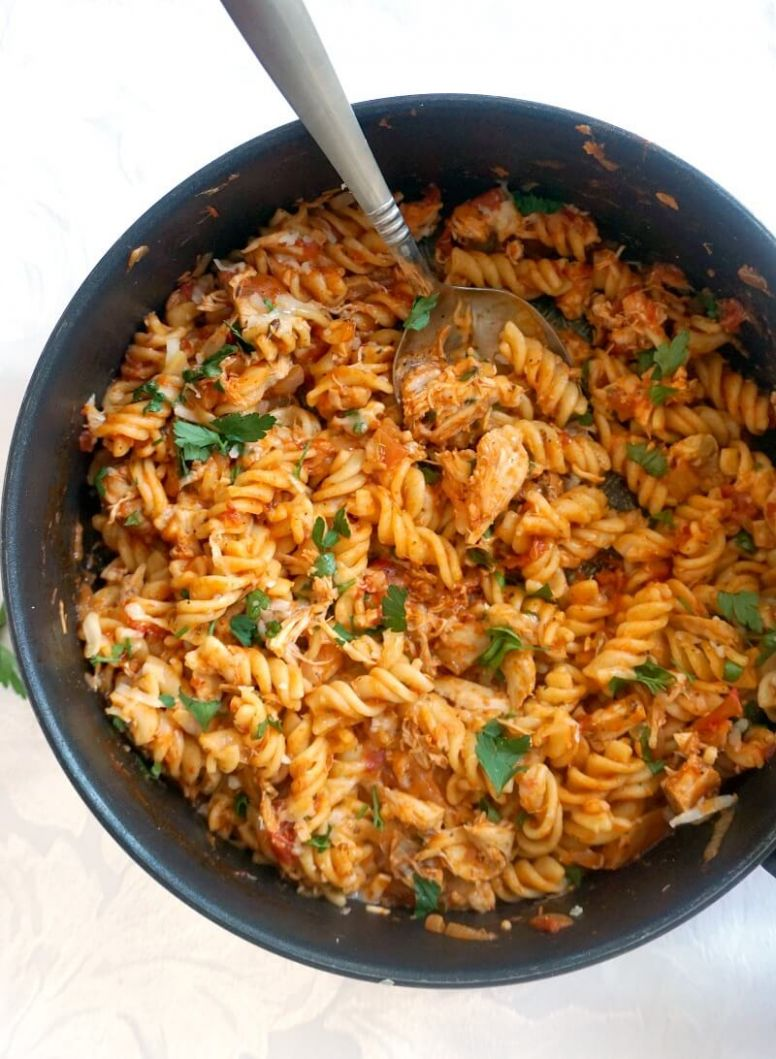 One-Pot Leftover Roast Chicken Pasta - My Gorgeous Recipes - Recipes Leftover Pasta