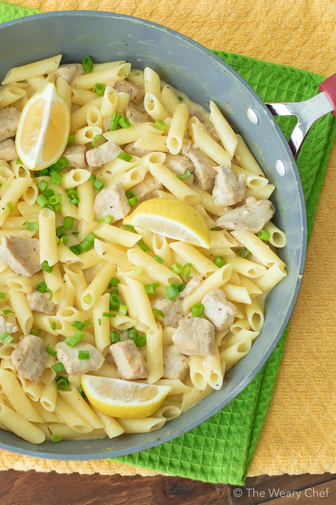 One Pot Lemon Garlic Pasta with Pork - Recipe Pork Pasta
