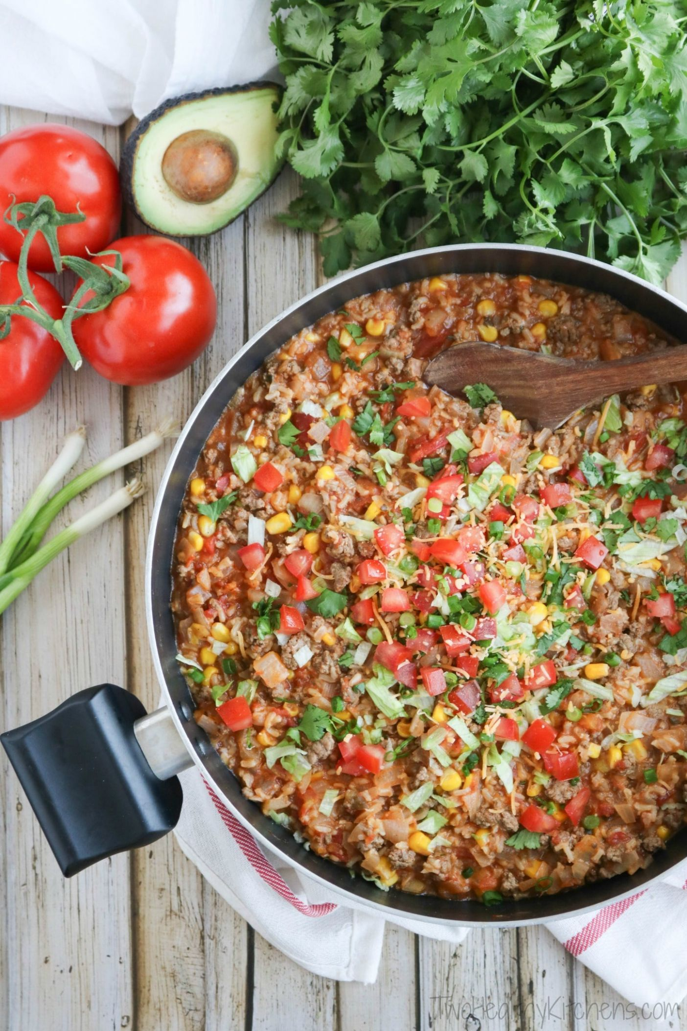 One-Pot Mexican Rice Skillet Dinner - Dinner Recipes Mexican