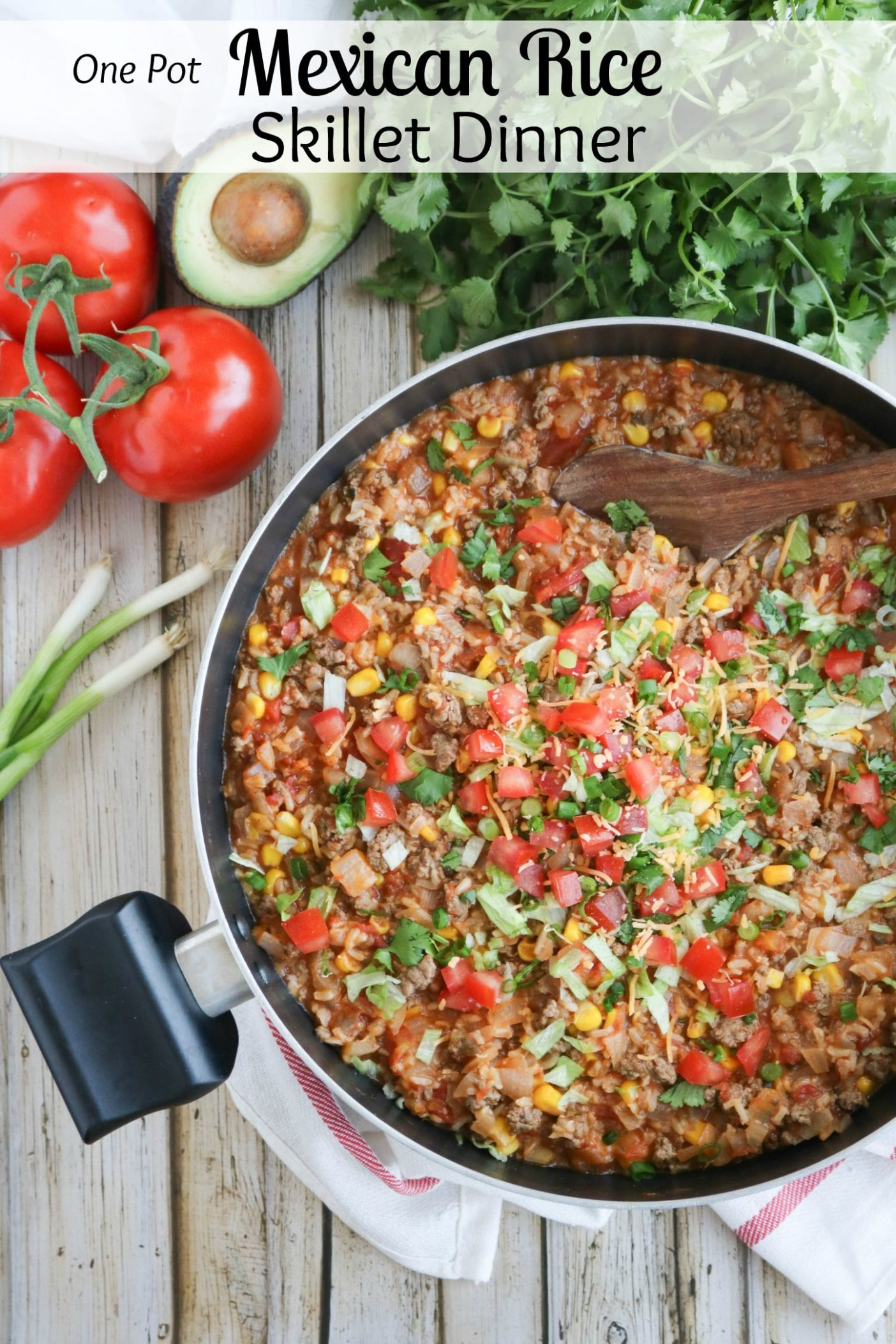 One-Pot Mexican Rice Skillet Dinner - Recipes Dinner For One
